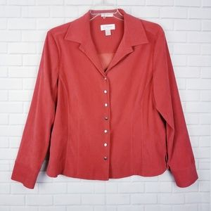 Christopher & Banks Stretch Snap Button Shirt